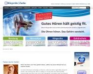 Bild Webseite Hörgeräte Zacho Hamburg