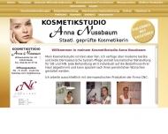 Bild Webseite Kosmetikstudio Anna Nussbaum Berlin