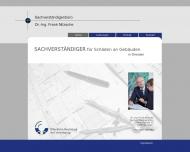 Bild Webseite Nitzsche Dr. Sachverständiger für Bauschäden Dresden