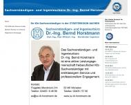 Bild Webseite Sachverständigen- und Ingenieurbüro Dr.-Ing. Bernd Horstmann Dresden