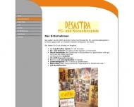 Website DESASTRA PC- und Konsolenspiele