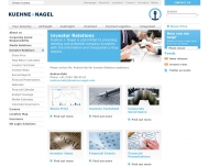 Website Kuehne + Nagel (AG
