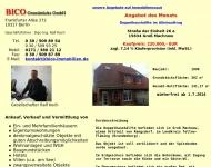 Bild Webseite BICO Grundstücks Berlin