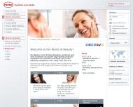 Bild Webseite Henkel Düsseldorf
