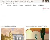 Bild Webseite Schloß Benrath Düsseldorf