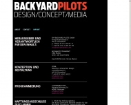Website Backyard Pilots Postproduktion