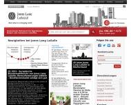Bild Webseite Kemper´s Jones Lang LaSalle Retail Düsseldorf