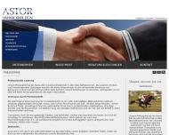 Website Astor Immobilien