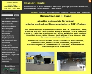 Website Essener-Handel Büromöbel aus II Hand