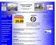 Website ATA An- und Verkauf von Kraftfahrzeugaltteilen