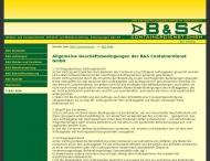 Website B u. S Containerdienst
