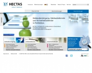 Website HECTAS Facility Services Stiftung