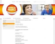 Website Office People Gesellschaft für Zeitarbeit