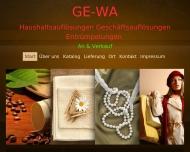 Website Haushaltsauflösungen GE-WA An & Verkauf