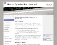 Bild Webseite Rechtsanwalt Marcus Spiralski Dortmund