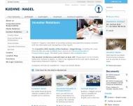 Website Kühne + Nagel (AG