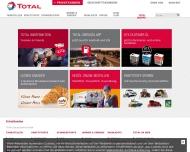 Bild Webseite TOTAL Station Tankstelle Dresden