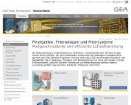 Bild Webseite GEA Delbag-Luftfilter Vertriebsgesellschaft Berlin