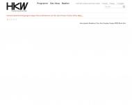 Bild Webseite Haus der Kulturen der Welt Berlin