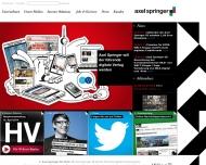 Bild Webseite Axel Springer Aktiengesellschaft Berlin