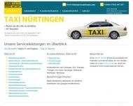 Website Taxi Nürtingen