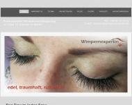 Bild Webseite Wimpernexpertin Berlin
