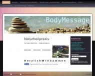 Bild Webseite Bodymessage - Naturheilpraxis Hamburg