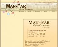 Bild Webseite Man-Far China Restaurant Berlin