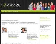 Bild Webseite NovaTrade Deutschland Berlin