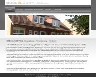 Bild Webseite Bode & Comp. Haus u. Hypothekenmakler Hamburg
