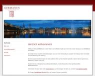 Bild Webseite GERMANUS Immobilien Hamburg