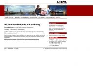 Bild Webseite AKTIVA Immobiliendienst Hamburg
