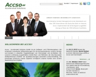 Bild Webseite Accso - Accelerated Solutions Darmstadt