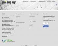 Bild Webseite EBR Projektentwicklung Göttingen