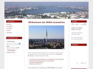 Bild Webseite GeWo-Immobilien Moritz & Co Hamburg