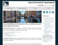 Bild Webseite Herkules Group Immobilien Beratung Hamburg