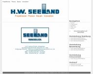 Bild Webseite H.W. Seeland Hamburg