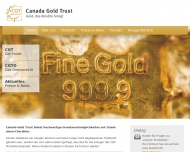Bild Webseite Canada Gold Trust Management Konstanz