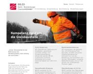 Bild Webseite BB.ED Eisenbahndienste Berlin