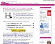 Bild Webseite a.b.s. Rechenzentrum München