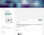 Bild Fritz Wübbenhorst - IHRE MAKLERFIRMA - Tranzparenz schafft Vertrauen -