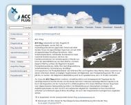 Website ACC Flug