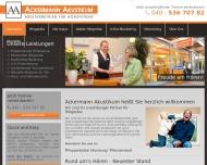 Bild Webseite Ackermann Akustikum Hamburg