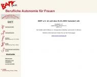 Bild Webseite BAFF berufliche Autonomie für Frauen Hamburg