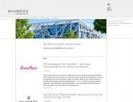 Bild Webseite BAMBERG kommunikation Heilbronn
