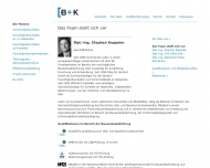 Website Bausachverständigenbüro B & K