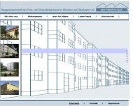 Bild Webseite Baugenossenschaft des Post und Telegrafenpersonals in München und Oberbayern eG Reutlingen
