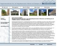 Website Baugenossenschaft des Post- und Telegrafenpersonals in München und Obb.