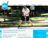 Bild Webseite Bayerischer Minigolfsport Verband e. V. (BMV) München