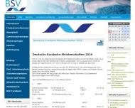 Bild Webseite Bayerischer Schwimmverband München